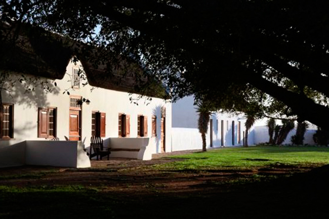 Accommodation ranges from the Opstal Manor House...
