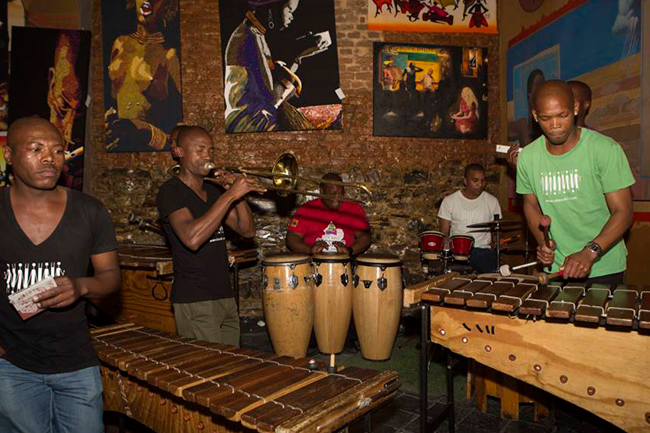 A lively marimba keeps things pumping at Mama Africa, a Long Street legend