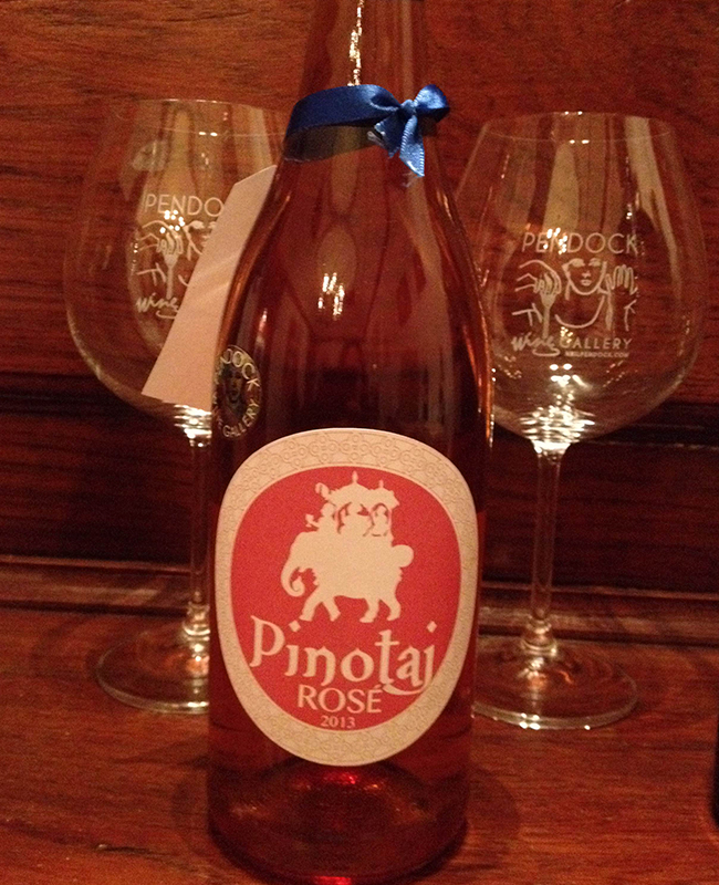 Pinotaj is the rosé made for the Taj Hotel, and is designed to complement the spicy aromatic food