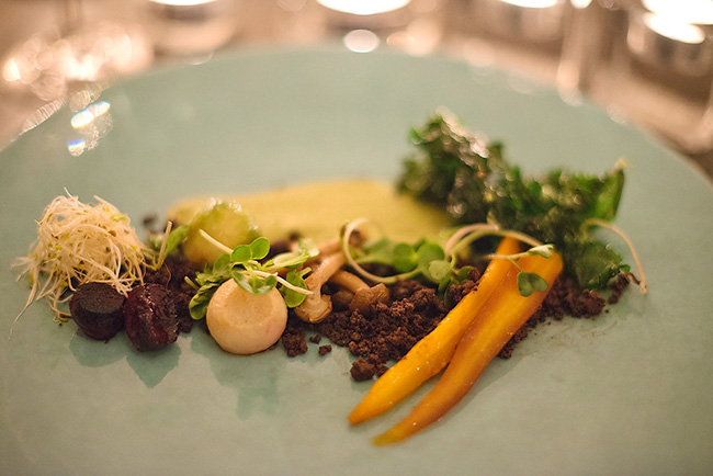 Vegetable garden: zucchini and mint velouté with truffled soil