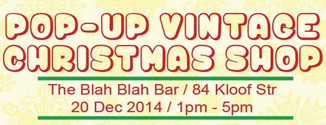 POP-UP VINTAGE CHRISTMAS SHOP