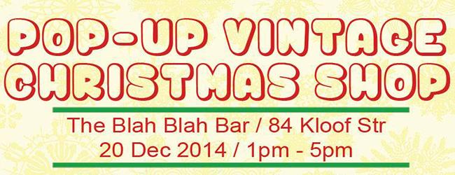 POP-UP VINTAGE CHRISTMAS SHOP
