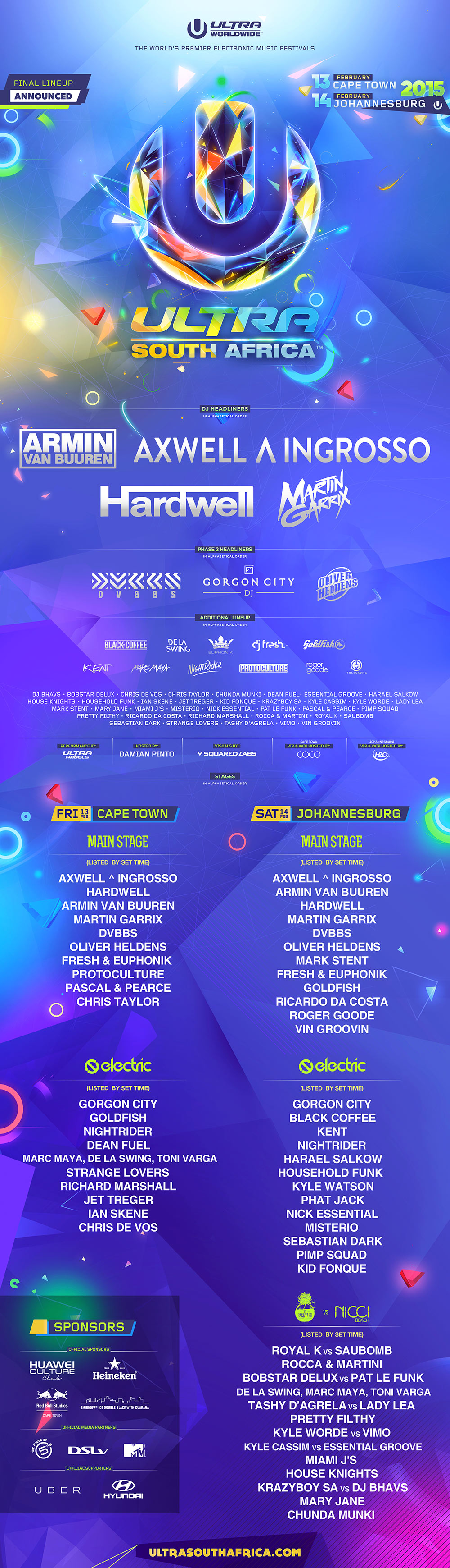 ultra cape town line up