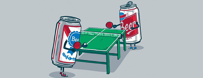 BEER PONG AT THE WEMBLEY TAP