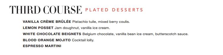 Beluga Summer Menu Dessert