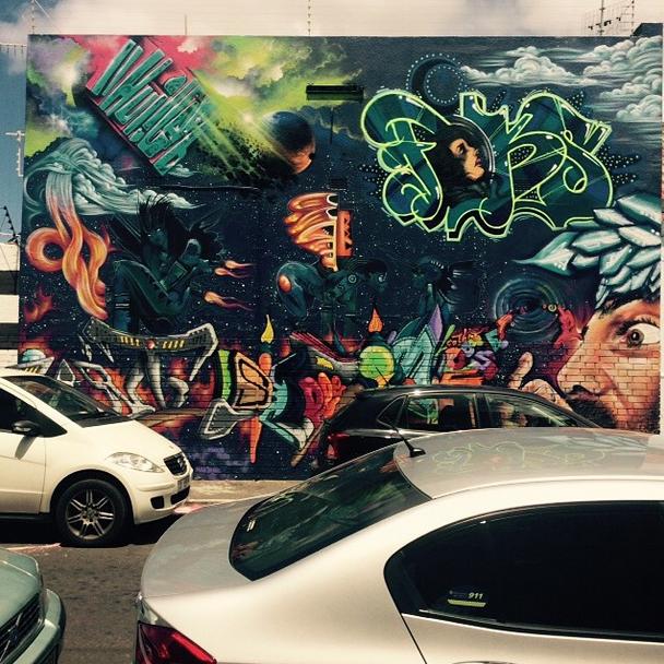 Three Feathers Diner graffiti