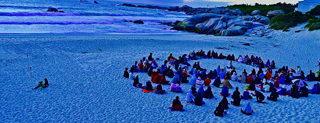 FULL MOON MEDITATION ON CAMPS BAY BEACH