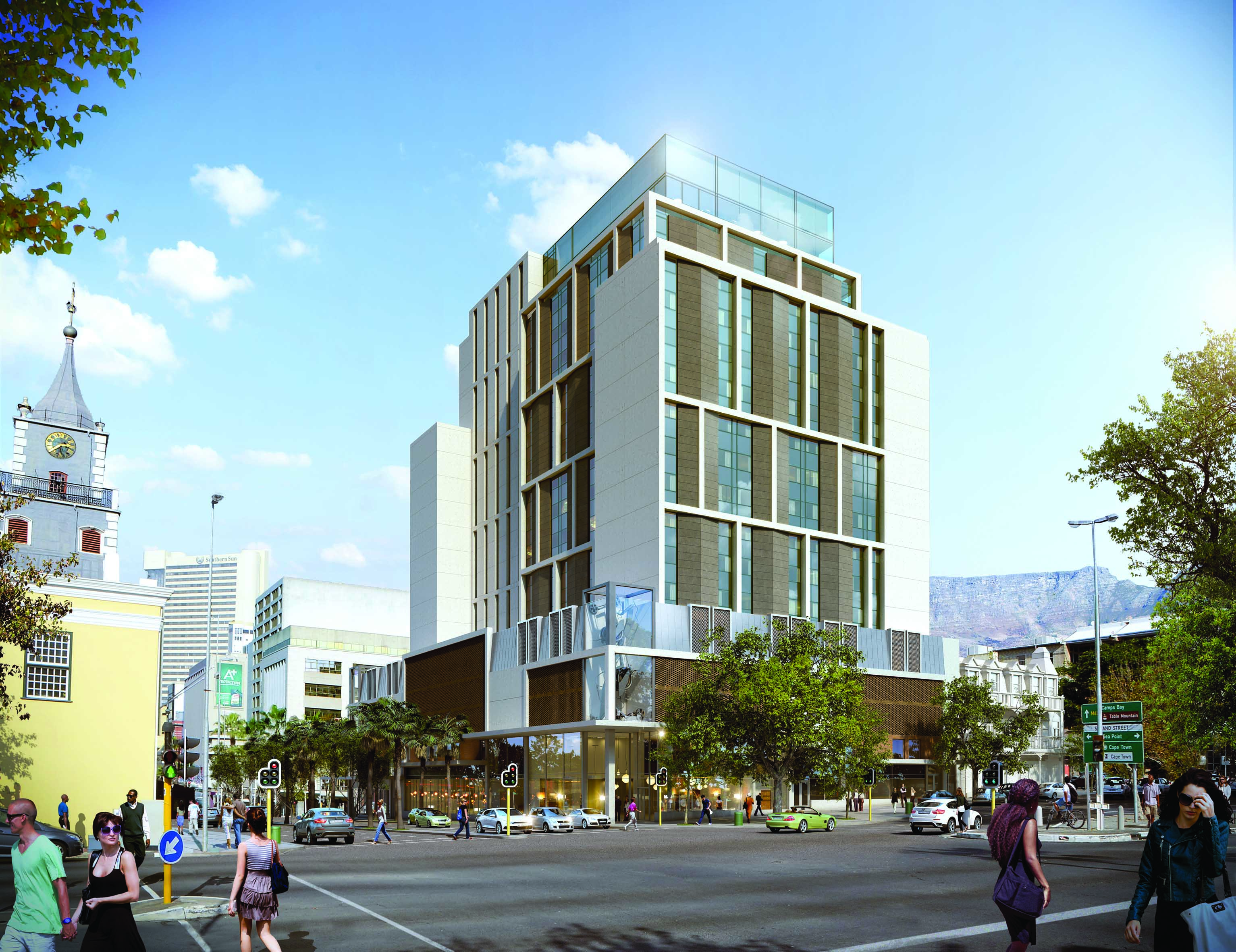An artist's impression of the new hotel.