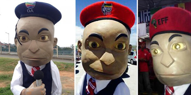 Political Berets By the EFF, ANC and DA