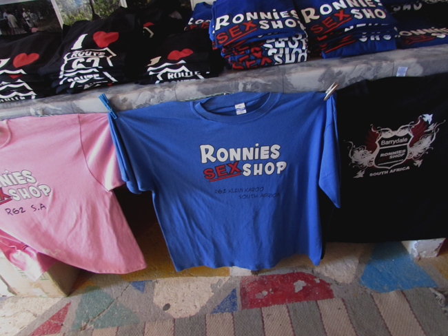 ronnies sex shop tee shirts