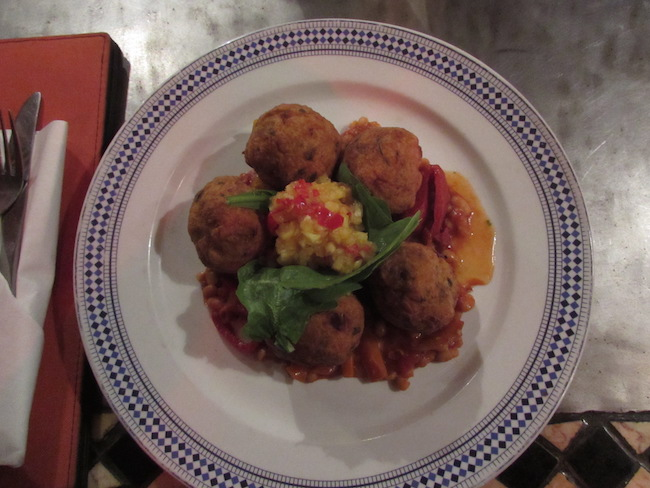 Nigerian sweet potato & chickpea koftas
