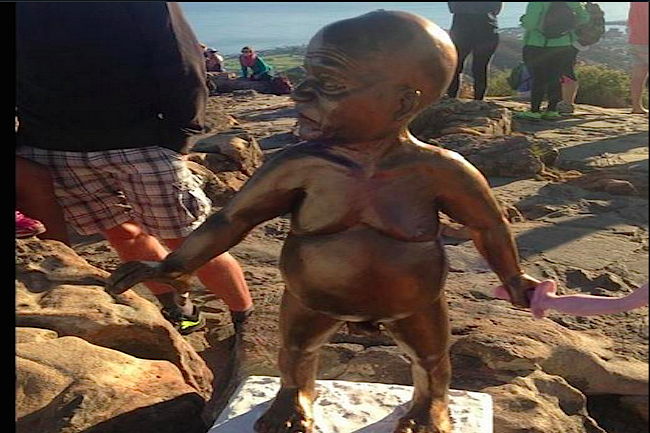 MYSTERIOUS, CONTROVERSIAL STATUE ERECTED ON LION'S HEAD