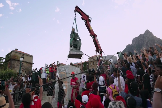 WATCH: RHODES STATUE FALLS