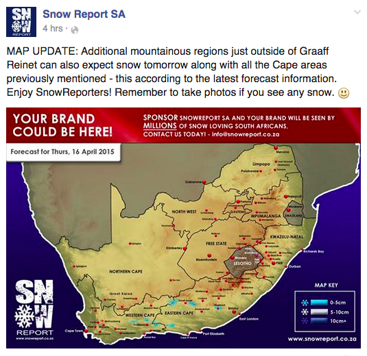 cape town snow report