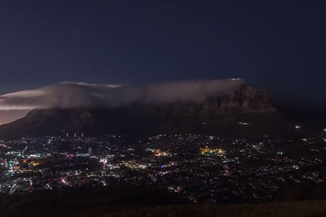 TIME LAPSE VIDEO OF CAPE TOWN DURING LOADSHEDDING