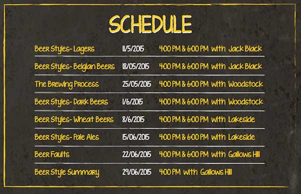 Beer-school-schedule
