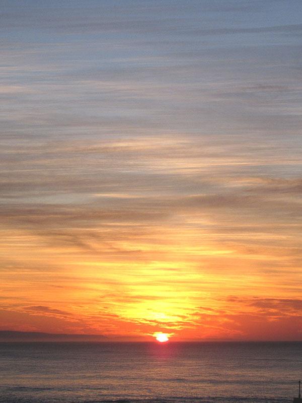 That amazing sunrise I mentioned.