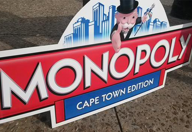 CAPE TOWN TO GET ITS OWN MONOPOLY BOARD GAME