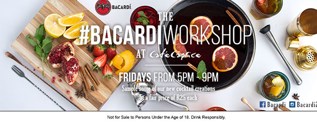 THE BACARDI WORKSHOP AT CAFE CAPRICE