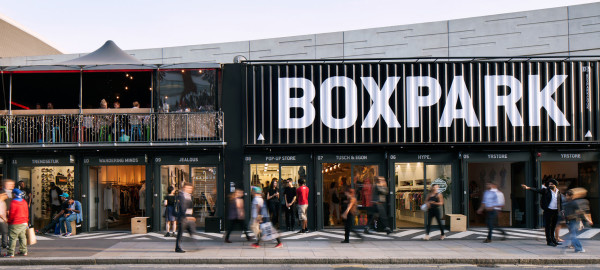 Box Park in London, a container-themed retail experience. Image: www.boxpark.co.uk