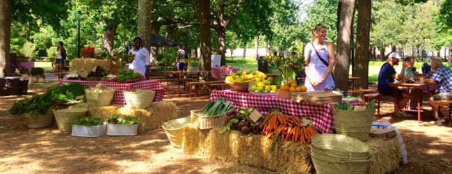 The Good Company Farmers Market recently launched as a weekly Saturday event in the Company's Garden