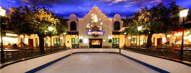 ice rink at grandwest casino