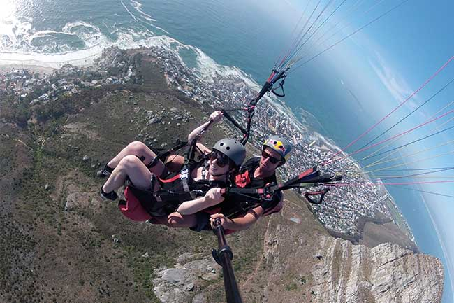 GETTING AIR WITH CAPE TOWN TANDEM PARAGLIDING