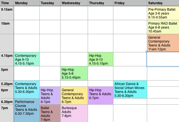 OP-timetable