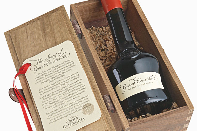 GROOT CONSTANTIA'S GRAND CONSTANCE WINE