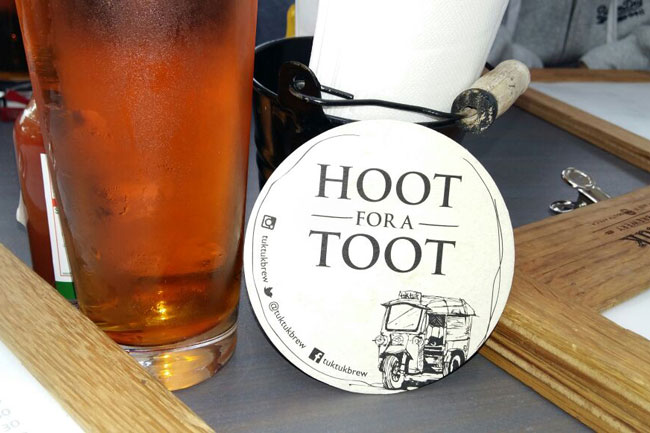 HOOT FOR A TOOT AT THE TUK TUK MICROBREWERY