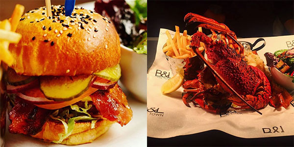 Burger-and-lobster-food