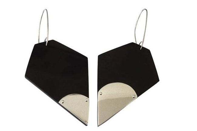hexagonal earrings by philippa green