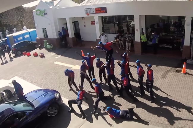 WATCH: PETROL ATTENDANTS FLASH MOB GOES VIRAL