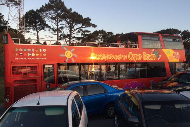 sunset bus tour