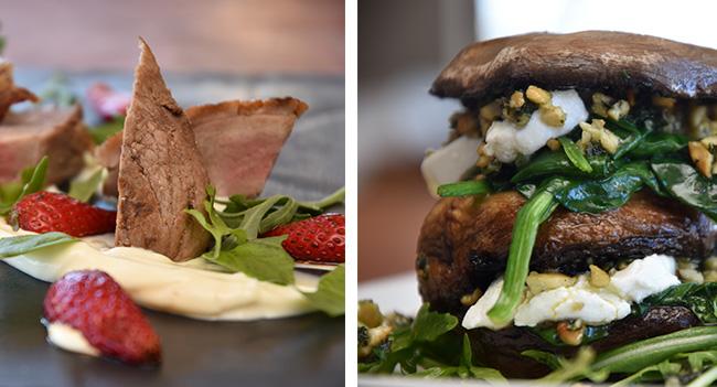 Cured duck breast and garlic roasted mushrooms –Aaron Polikoff