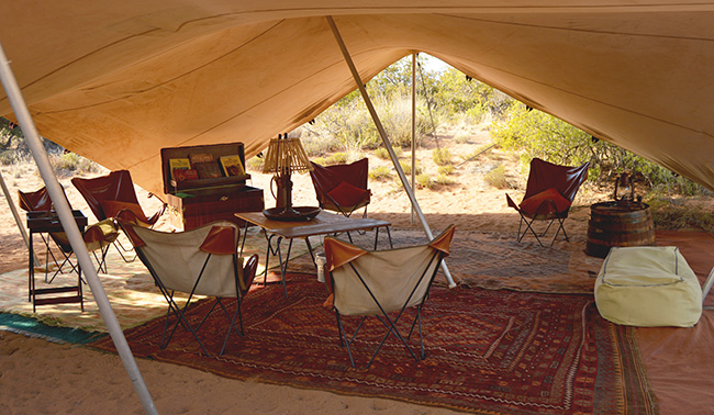 Sanbona Explorer Camp Lounge area