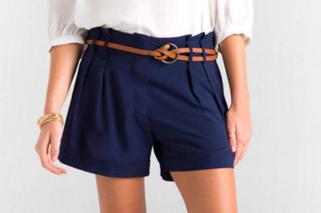 CTE STYLE TRIBE: LENA PLEATED SHORTS