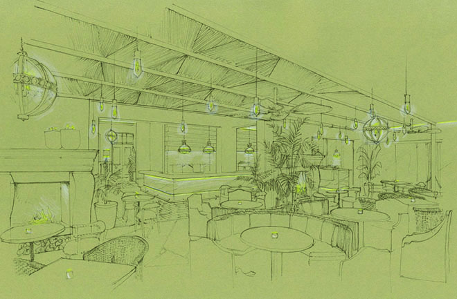 The Conservatory Sketch LIFE Grand Cafe