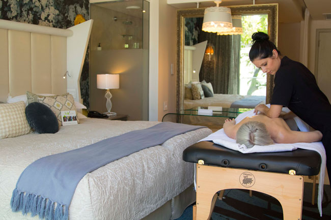 Indulge with in-room spa treatments at Oude Werf