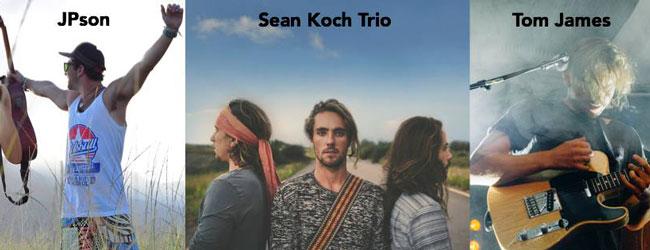 Sean Koch Trio, Tom James & JPson live at Blah Blah Bar