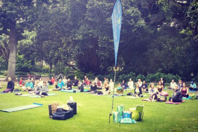 After work Yoga in the Company Gardens