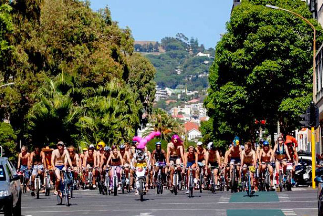 World Naked Bike Ride – Cape Town