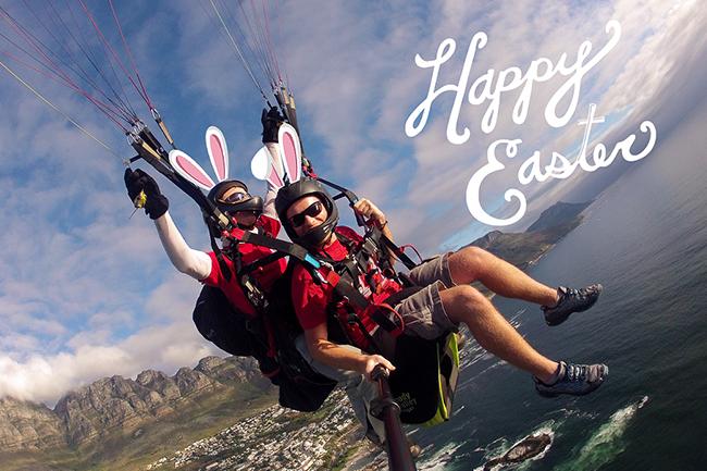 Easter paragliding
