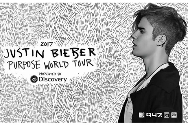 Justin Bieber Purpose World Tour