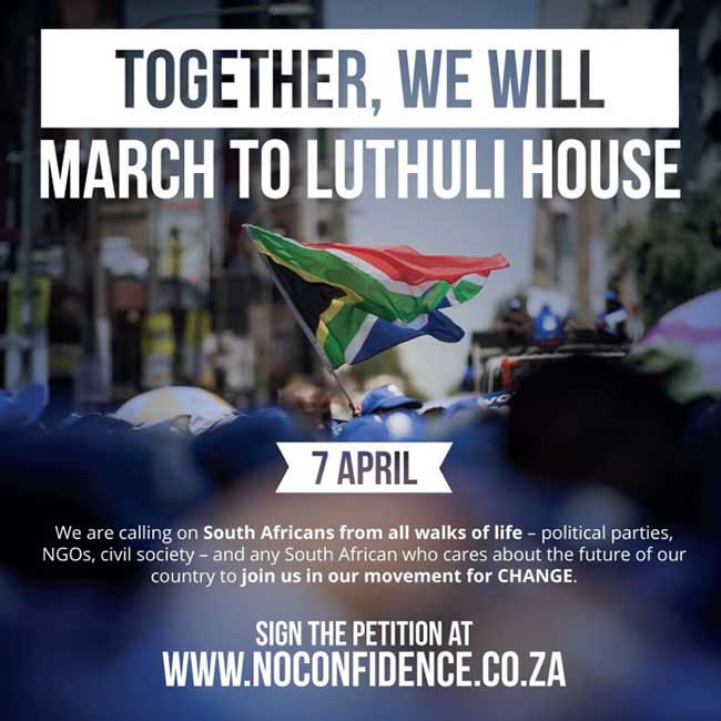 March poster No confidence