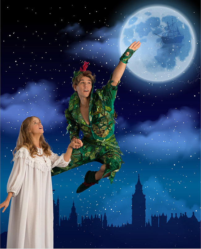 Grant Almiral as Peter Pan and Jenny Stead as Wendy