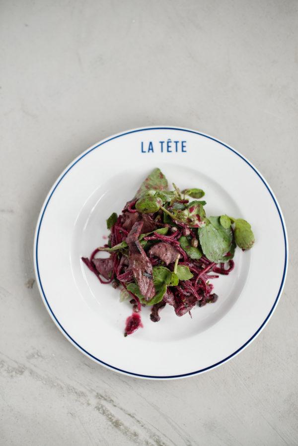 Ox heart & beetroot salad