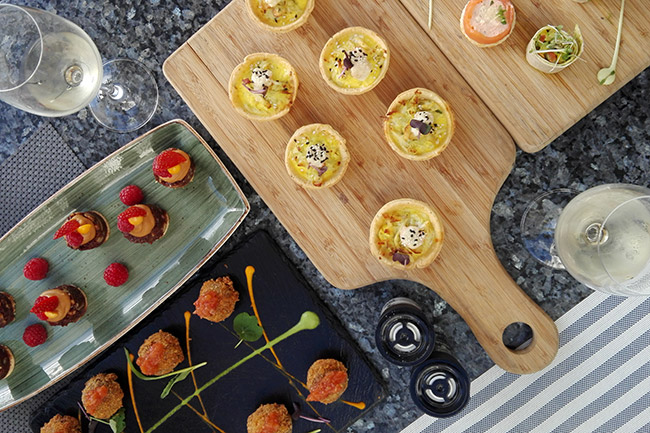 The President Hotel's canapé pairing dishes