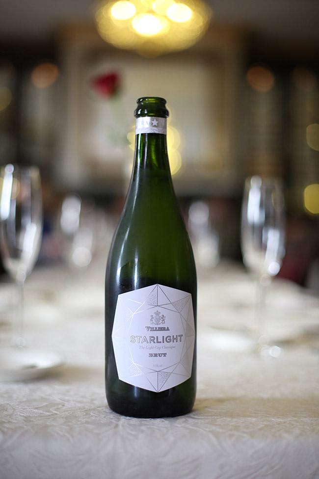 Champagne for breakfast at The Grande Roche Hotel