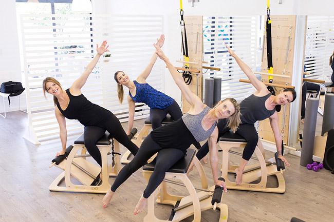 Pilates-goers at Flex Pilates studio